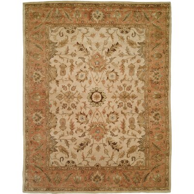 Bhatti Hand-Woven Orange/Beige Area Rug Rug Size: Rectangle 9 x 12