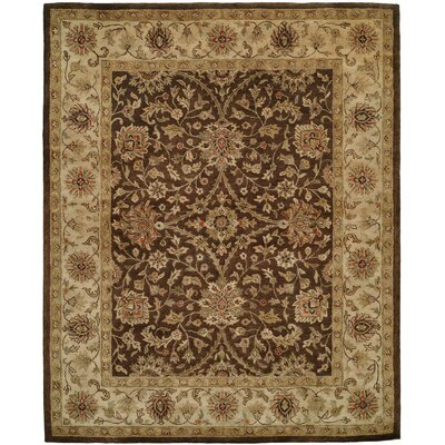 Bhavsar Hand-Woven Brown Area Rug Rug Size: 9 x 12