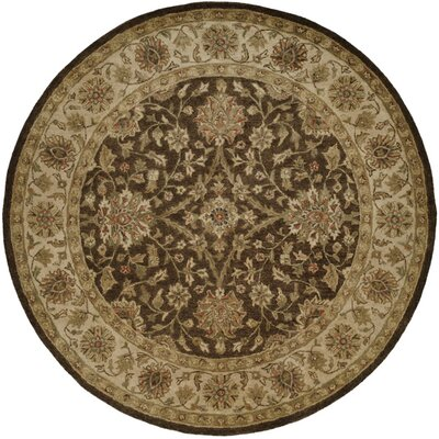 Bhavsar Hand-Woven Brown Area Rug Rug Size: Round 8
