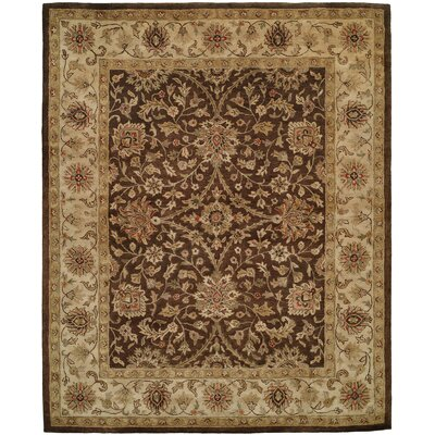 Bhavsar Hand-Woven Brown Area Rug Rug Size: 96 x 136