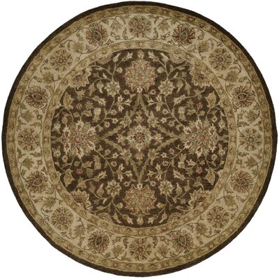 Bhavsar Hand-Woven Brown Area Rug Rug Size: Round 6