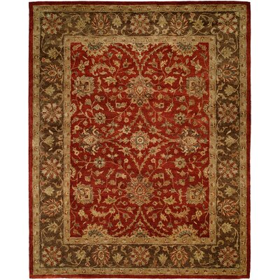 Bir Hand-Woven Red Area Rug Rug Size: 5 x 8