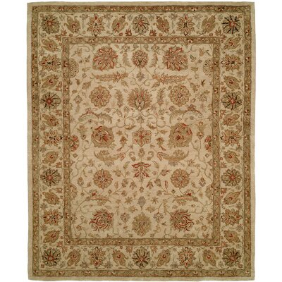 Biswas Hand-Woven Beige Area Rug Rug Size: Rectangle 96 x 136