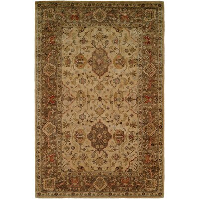 Boase Hand-Woven Beige/Brown  Area Rug Rug Size: 96 x 136