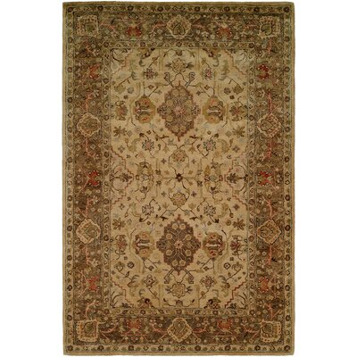 Boase Hand-Woven Beige/Brown  Area Rug Rug Size: 36 x 56