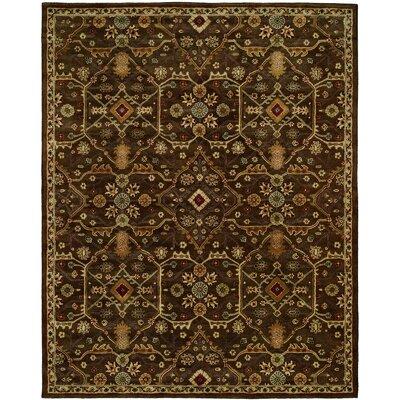 Borah Hand-Woven Brown Area Rug Rug Size: 96 x 136