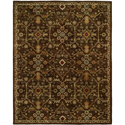 Borah Hand-Woven Brown Area Rug Rug Size: Round 8