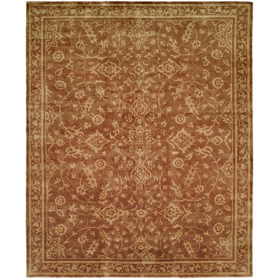 Brahmbhatt Hand-Knotted Brown Area Rug Rug Size: 4 x 6
