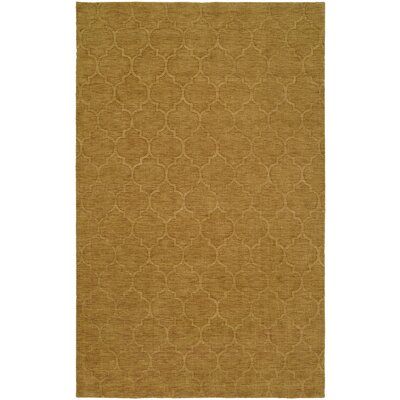 Brar Hand-Woven Brown Area Rug Rug Size: 96 x 136