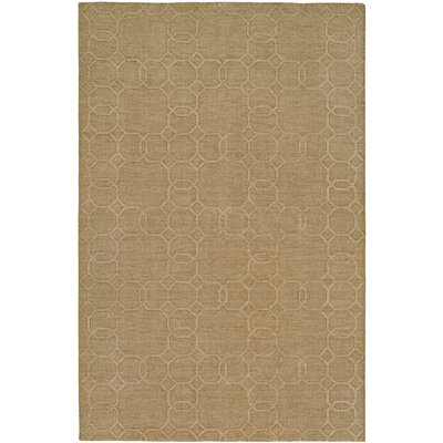 Buch Hand-Woven Beige Area Rug Rug Size: 96 x 136