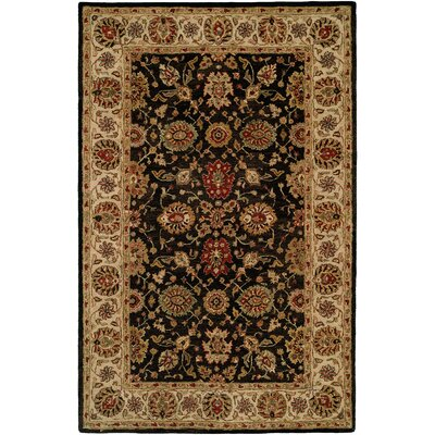 Bumb Hand-Woven Black/Brown Area Rug Rug Size: 8 x 10
