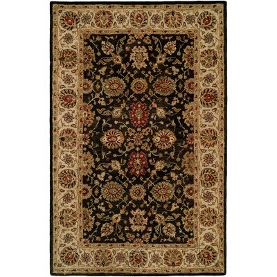Bumb Hand-Woven Black/Brown Area Rug Rug Size: 96 x 136