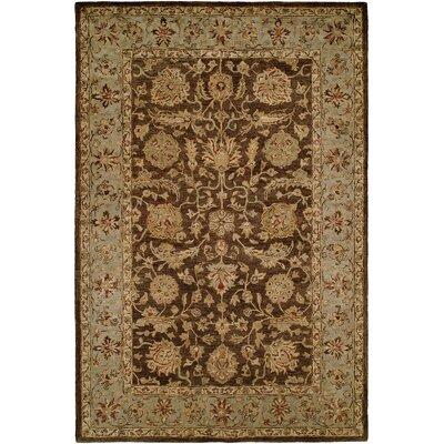 Butala Hand-Woven Brown Area Rug Rug Size: 96 x 136