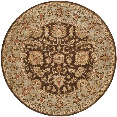Butala Hand-Woven Brown Area Rug Rug Size: Round 6