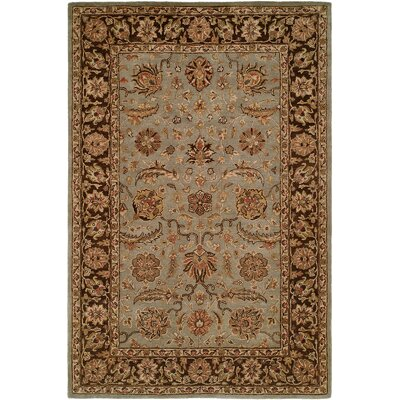 Chacko Hand-Woven Brown Area Rug Rug Size: 5 x 8
