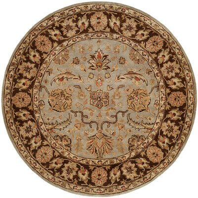 Chacko Hand-Woven Brown Area Rug Rug Size: Round 6