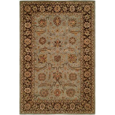 Chacko Hand-Woven Brown Area Rug Rug Size: 96 x 136