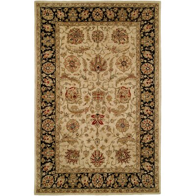 Chad Hand-Woven Brown/Beige Area Rug Rug Size: 96 x 136
