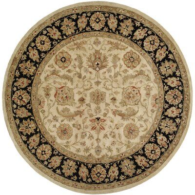 Chad Hand-Woven Brown/Beige Area Rug Rug Size: Round 6