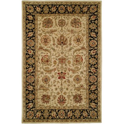 Chad Hand-Woven Brown/Beige Area Rug Rug Size: 36 x 56