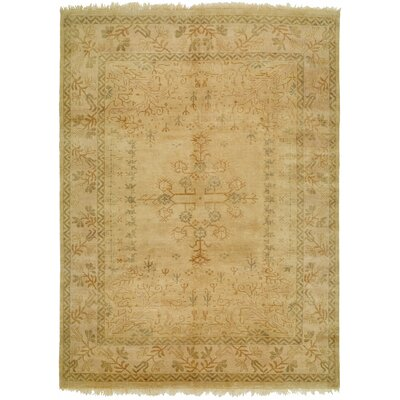 Chada Hand-Knotted Beige Area Rug Rug Size: 8 x 10