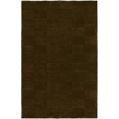 Chadha Hand-Woven Brown Area Rug Rug Size: 36 x 56