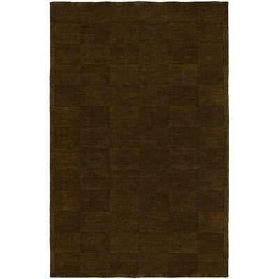 Chadha Hand-Woven Brown Area Rug Rug Size: 96 x 136