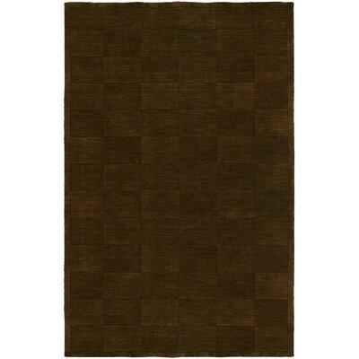 Chadha Hand-Woven Brown Area Rug Rug Size: 96 x 136