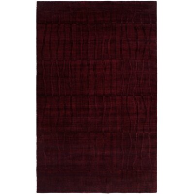 Chakrabarti Hand-Woven Purple Area Rug Rug Size: 96 x 136