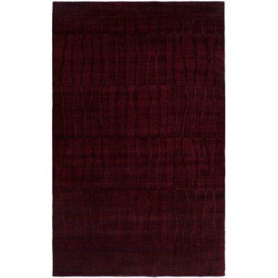 Chakrabarti Hand-Woven Purple Area Rug Rug Size: 36 x 56