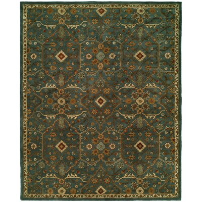 Chana Hand-Woven Blue/Brown Area Rug Rug Size: Round 6'