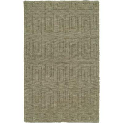 Chanda Hand-Woven Gray Area Rug Rug Size: 9 x 12