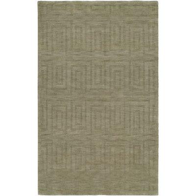 Chanda Hand-Woven Gray Area Rug Rug Size: 96 x 136