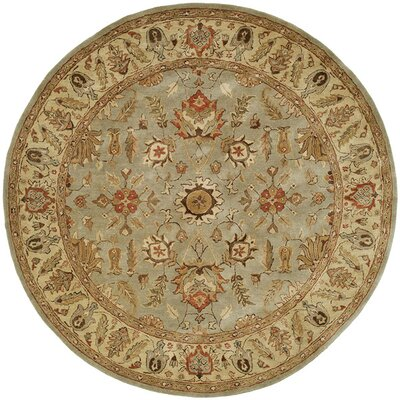 Chandra Hand-Woven Brown Area Rug Rug Size: Round 6