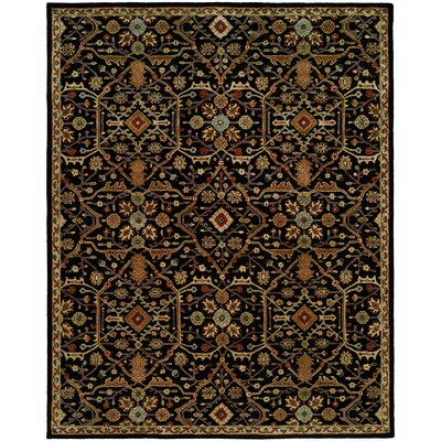 Chandran Tufted Black Area Rug Rug Size: 6 x 9