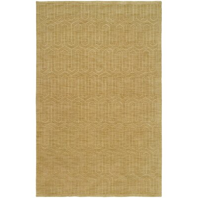 Chatterjee Hand-Woven Gold Area Rug Rug Size: Runner 26 x 10