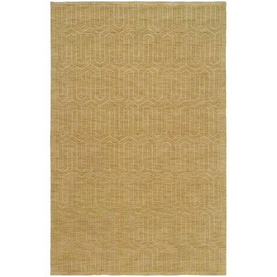 Chatterjee Hand-Woven Gold Area Rug Rug Size: 96 x 136