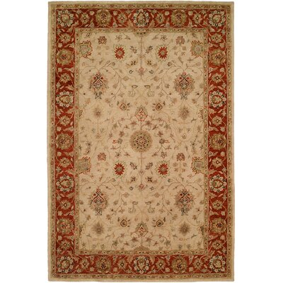 Chaudhari Hand-Woven Beige Area Rug Rug Size: 9 x 12