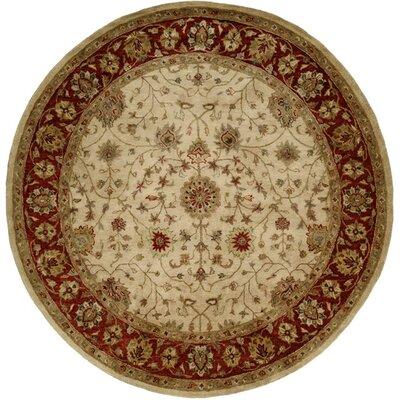 Chaudhari Hand-Woven Beige Area Rug Rug Size: Round 6