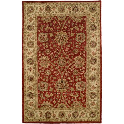 Chaudhary Hand-Woven Red/Beige Area Rug Rug Size: 9 x 12