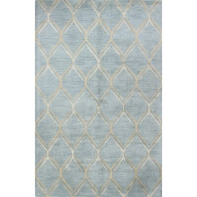 Kandla Hand-Tufted Light Blue Area Rug Rug Size: 56 x 86