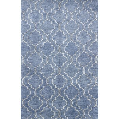 Vajrabahu Hand-Tufted Denim Area Rug Rug Size: 86 x 116