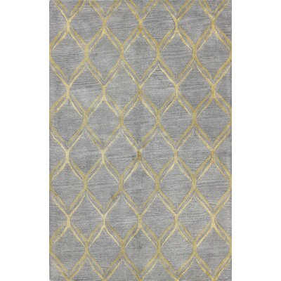 Abbas Hand-Tufted Grey Area Rug Rug Size: 39 x 59