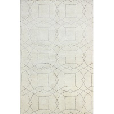 Cochin Hand-Tufted Ivory Area Rug Rug Size: 39 x 59