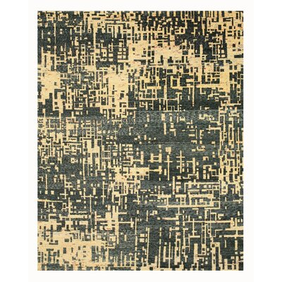 Hand Knotted Blue Area Rug Rug Size: 9 x 12
