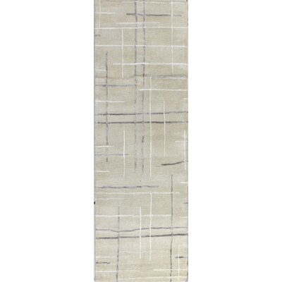 Imam Hand-Tufted Ivory Area Rug Rug Size: Runner 26 x 8