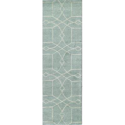 Qatar Hand-Tufted Aqua Area Rug Rug Size: Runner 26 x 8