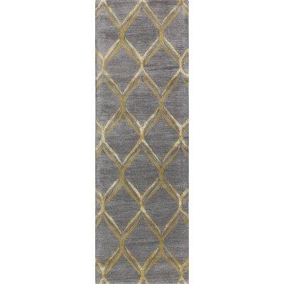 Abbas Hand-Tufted Grey Area Rug Rug Size: Runner 26 x 8