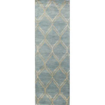 Kandla Hand-Tufted Light Blue Area Rug Rug Size: Runner 26 x 8