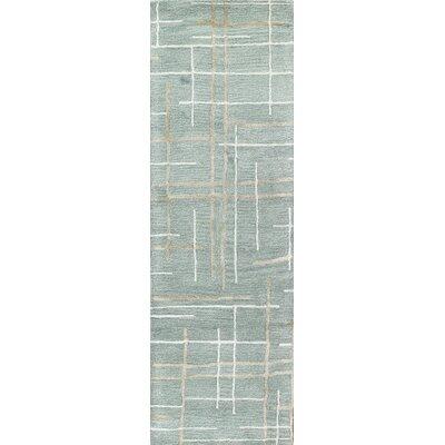 Goa Hand-Tufted Aqua Area Rug Rug Size: Runner 26 x 8